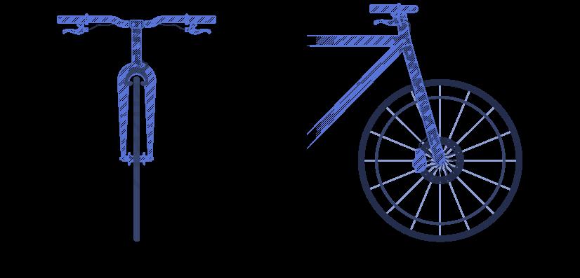 Obrázek zobrazuje schéma typů brzd kol