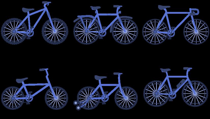 Obrázek zobrazuje schéma typů kol