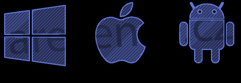 Obrázek zobrazuje operační systémy mobilů