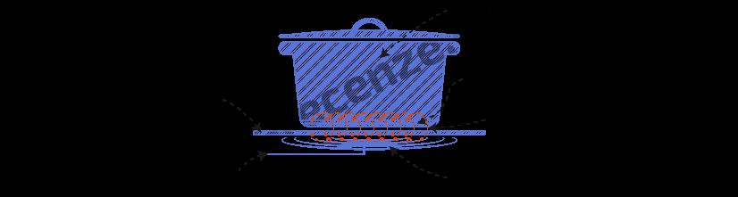 Obrázek zobrazuje schéma indukční varné desky